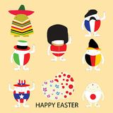 Happy easter vector illustrator illustration eggs concept Stock Image