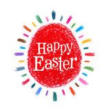 Happy Easter vector logo design template. holiday Royalty Free Stock Photos