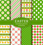 Happy Easter! Vector seamless patterns. Royalty Free Stock Image
