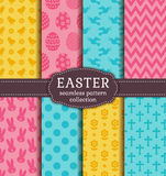 Happy Easter! Vector seamless patterns. Stock Photography