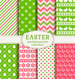 Happy Easter! Vector seamless patterns. Stock Images