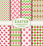 Happy Easter! Vector seamless patterns. Stock Photos
