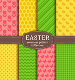 Happy Easter! Vector seamless patterns. Stock Image