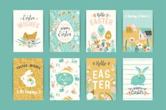 Happy Easter. Vector templates for card, poster, flyer and other users. Design element Royalty Free Stock Photography