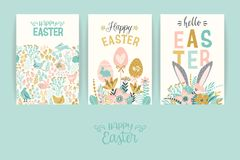 Happy Easter. Vector templates for card, poster, flyer and other users. Design element Royalty Free Stock Image