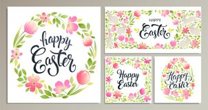 Happy Easter. Vector templates for card, poster, flyer and other users. Design element. Happy Easter. Vector templates for card poster, flyer and other users Royalty Free Stock Photography