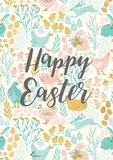 Happy Easter. Vector templates for card, poster, flyer and other users. Design element Stock Photos