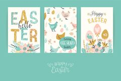 Happy Easter. Vector templates for card, poster, flyer and other users. Design element Stock Photography
