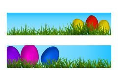 Happy Easter Vector Typography banner with place for your text m Royalty Free Stock Photos