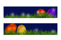 Happy Easter Vector Typography banner with place for your text m Royalty Free Stock Images