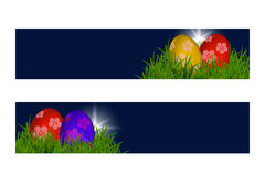 Happy Easter Vector Typography banner with place for your text  Stock Photos