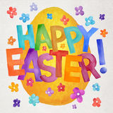 Happy Easter vector watercolor illustration Stock Images