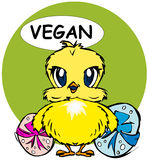 Happy Easter: Vegan chick Royalty Free Stock Photo