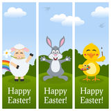 Happy Easter Vertical Banners Royalty Free Stock Photos