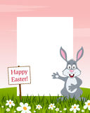 Happy Easter Vertical Frame - Rabbit stock photography