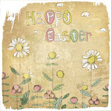 Happy Easter Vintage Card. Royalty Free Stock Photography