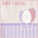 Happy Easter vintage card Stock Images