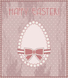 Happy Easter vintage egg Stock Photo