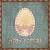 Happy Easter vintage egg, vector Stock Photo