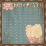 Happy Easter vintage gift card, vector Stock Images