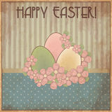 Happy Easter vintage gift card, vector Royalty Free Stock Image