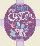 Happy Easter. Vintage greeting card. Stock Photos