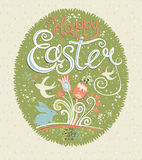 Happy Easter. Vintage greeting card. Royalty Free Stock Photos