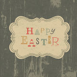 Happy easter vintage greeting card. Royalty Free Stock Image