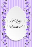 Happy Easter. Vintage style Easter greeting card. Royalty Free Stock Photography