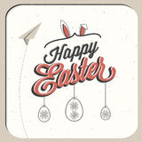 Happy Easter! Vintage style Easter greeting card Stock Image