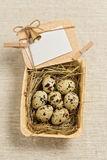 Happy Easter! Vintage style. Postcard. The decoration of Easter Stock Photography