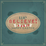 Happy Easter Vintage Stock Images