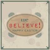 Happy Easter Vintage Stock Photo
