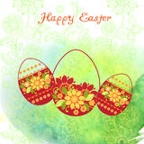 Happy Easter.Watercolor background Stock Images