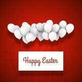 Happy Easter White Balloon 3d Composition Mockup vector illustration