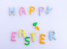 Happy easter wishes Stock Photography