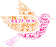 Happy Easter Word Cloud Royalty Free Stock Photo