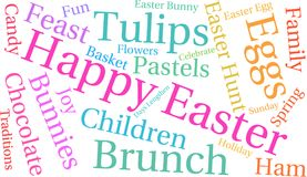 Happy Easter Word Cloud Stock Photography