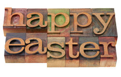 Happy Easter- words in letterpress type Stock Photo