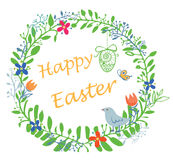 Happy Easter wreath Royalty Free Stock Photos