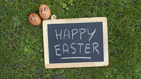 Happy easter written Stock Photo