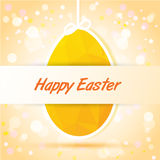 Happy Easter yellow card Stock Image