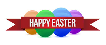 Happy Easters banner. Illustration design over a white background Royalty Free Stock Photos