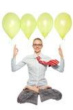 Happy easy business stock image
