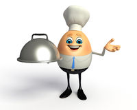 Happy Egg as business man Stock Photography