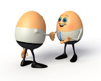 Happy Egg as business man Royalty Free Stock Photo