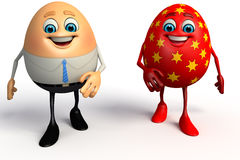 Happy Egg as business man with easter egg Stock Photography