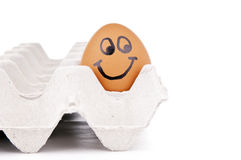 Happy Egg Character Royalty Free Stock Photo