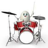 Happy Egg with drum sticks Royalty Free Stock Photo