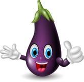 Happy eggplant cartoon thumb up. Illustration of Happy eggplant cartoon thumb up Stock Illustration